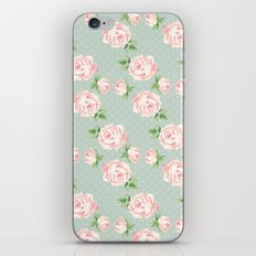Vintage Roses Pattern iPhone & iPod Skin