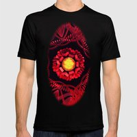 The Sun Is The Center Mens Fitted Tee Black SMALL