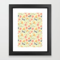 Autumn Floral Pattern Framed Art Print