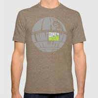 That's No Moon Mens Fitted Tee Tri-Coffee SMALL