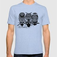 Owls Of The Nile Mens Fitted Tee Tri-Blue SMALL