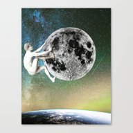 The Man On The Moon Canvas Print