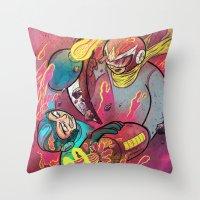 Mega Man Tribute Throw Pillow