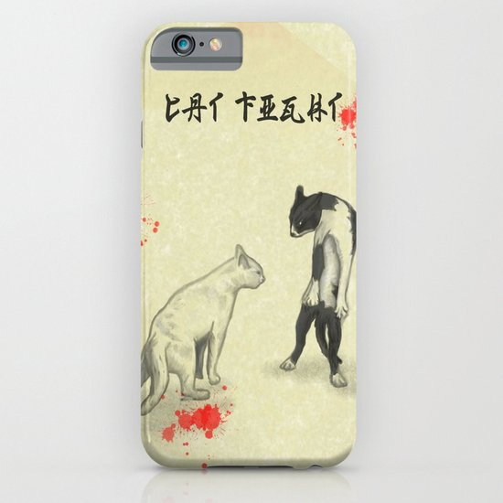 Cat Fight iPhone & iPod Case
