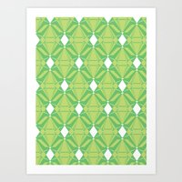 Abstract [GREEN] Emerald… Art Print
