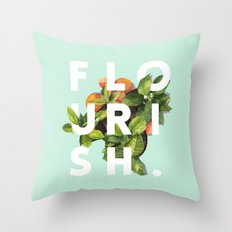 Flourish #society6 #buyart #typography #artprint Throw Pillow