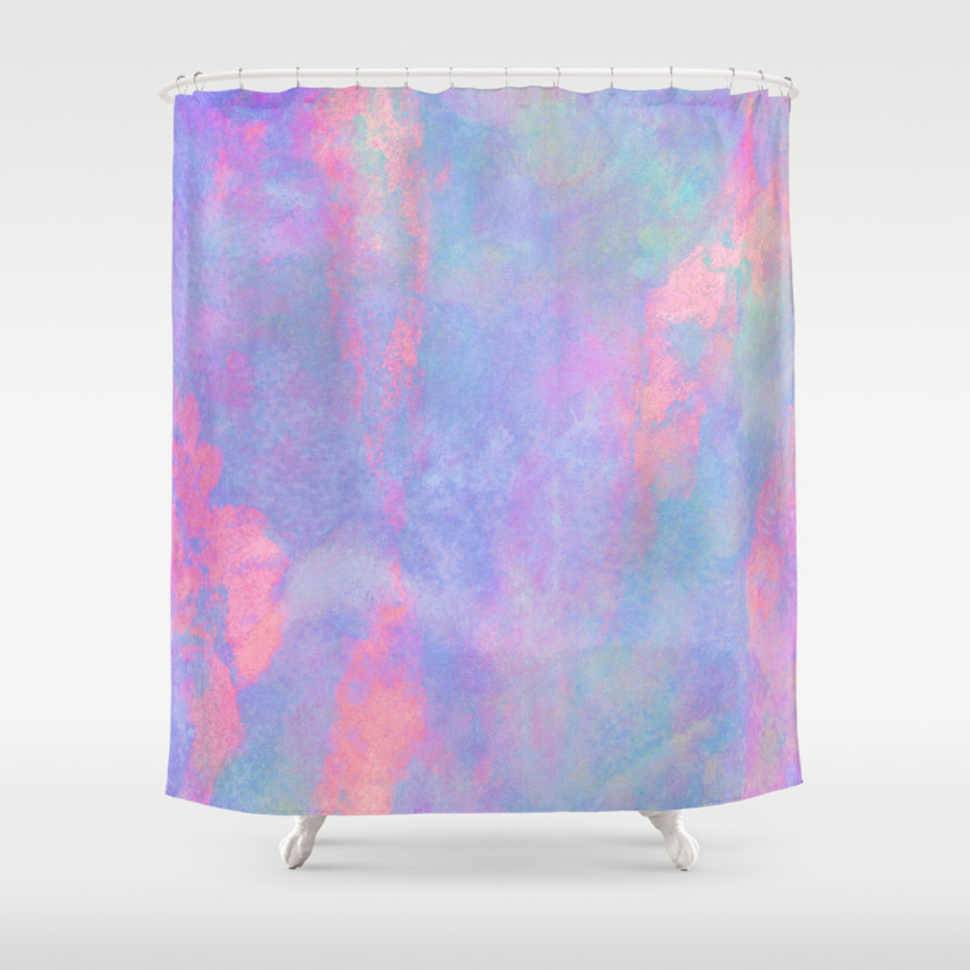 purple shower curtains society6. Black Bedroom Furniture Sets. Home Design Ideas