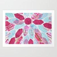 Patchwork-Collage Love Art Print