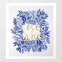 That's Life – Gold & Blue Art Print