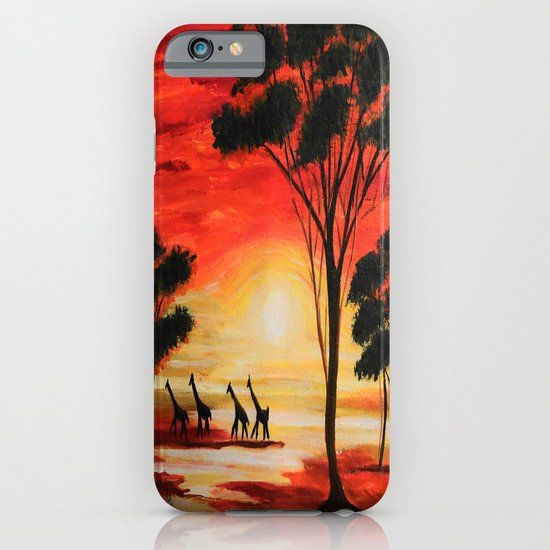 African sunset iPhone & iPod Case
