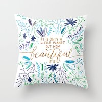Beautiful Planet Throw Pillow