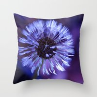 Violet Dandelion Throw Pillow
