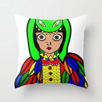 Quetzacoatl Throw Pillow