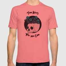 Time Waits Mens Fitted Tee Pomegranate SMALL