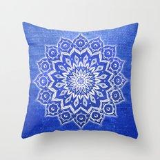 okshirahm, blue crystal Throw Pillow