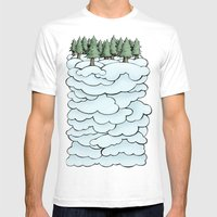 Treeclouds Mens Fitted Tee White SMALL