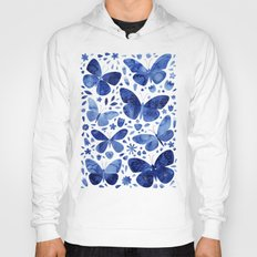 Blue Butterflies Hoody