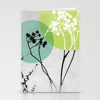 Abstract Flowers 2 Stationery Cards