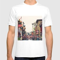 San Francisco China Town Mens Fitted Tee White SMALL