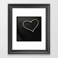 Buckyball Heart. Framed Art Print