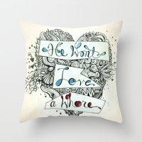 3>:( Throw Pillow