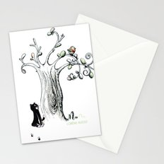 Little Cat and birdy Stationery Cards