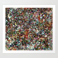 Sequin Spill Art Print
