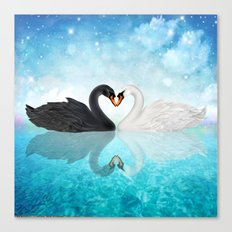 Heart Of Swans #12 Canvas Print