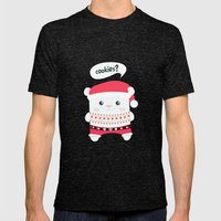 cookies? Mens Fitted Tee Tri-Black SMALL