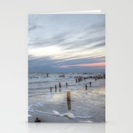 Cold Sundown At The Beac… Stationery Cards