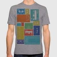 Cassette Heaven Mens Fitted Tee Athletic Grey SMALL