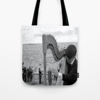 His Music Floats Down To… Tote Bag