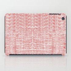Red Wavy Chevrons iPad Case