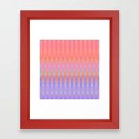 Oh So Stripy Framed Art Print