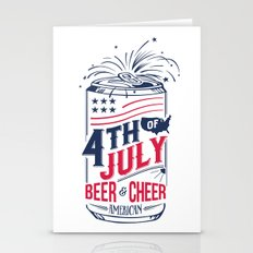 Typography Beer - Fourth of July Stationery Cards