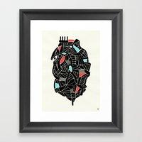 - face for the storm - Framed Art Print