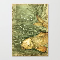 Le Mutisme d'une Carpe (The Golden Carp) Canvas Print