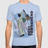 Beet Townshend Mens Fitted Tee Athletic Blue SMALL