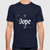 Dope Mens Fitted Tee Navy SMALL