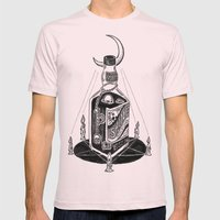 Devil's Moonshine Mens Fitted Tee Light Pink SMALL
