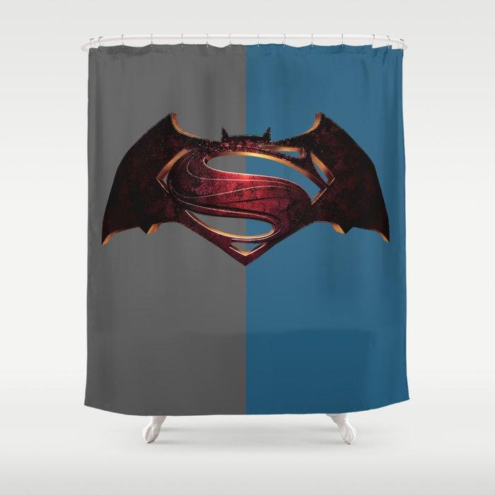 Batman Superman Shower Curtain By Debum Society6