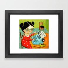 The Writer Of Stories Framed Art Print