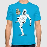 Droid Soccer Mens Fitted Tee Teal SMALL
