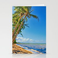 Coconut palms in Tropical North Queensland Stationery Cards