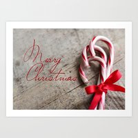 Merry Christmas Candy Ca… Art Print