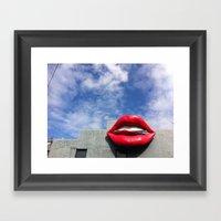 Kiss My Lips Framed Art Print