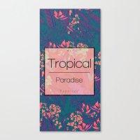 Tropical Paradise: Purple Haze Canvas Print