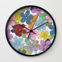Cherry Blossom Colour - … Wall Clock