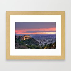 The Alhambra And Granada… Framed Art Print