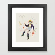Framed Art Print featuring Aries by LordofMasks